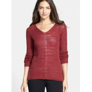 Eileen Fisher Slubbed Alpaca Blend V-Neck Sweater